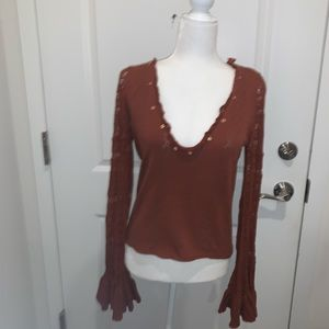 Free People V-Neck Top